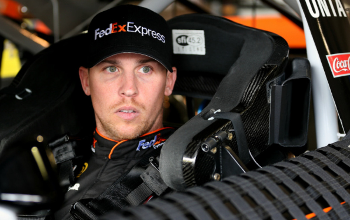 Denny Hamlin is currently 11th in NASCAR standings. (Chris Graythen/NASCAR/Getty Images)