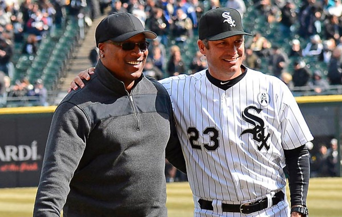 Bo Jackson threw out the first pitch at the White Sox's 2013 season opener against another of his former teams, the Royals.