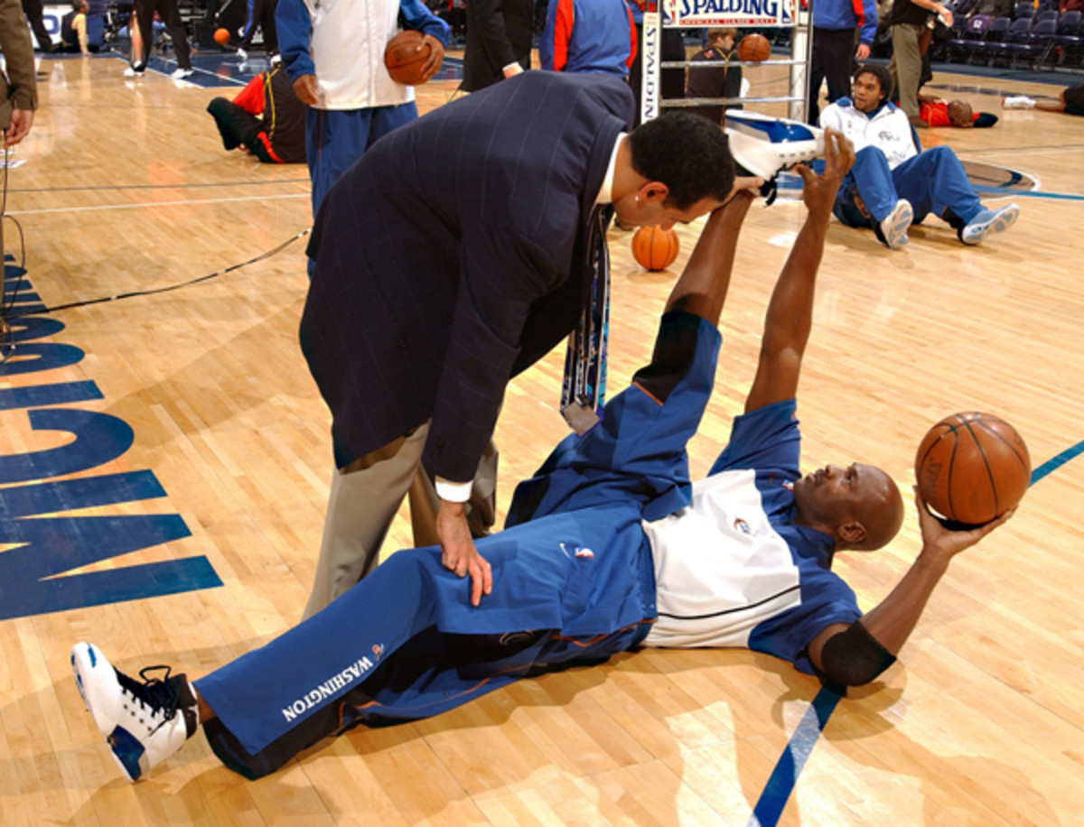Michael Jordan worked with Tim Grover throughout his career, enhancing his game with Grover's competitive mental approach to training for the NBA.