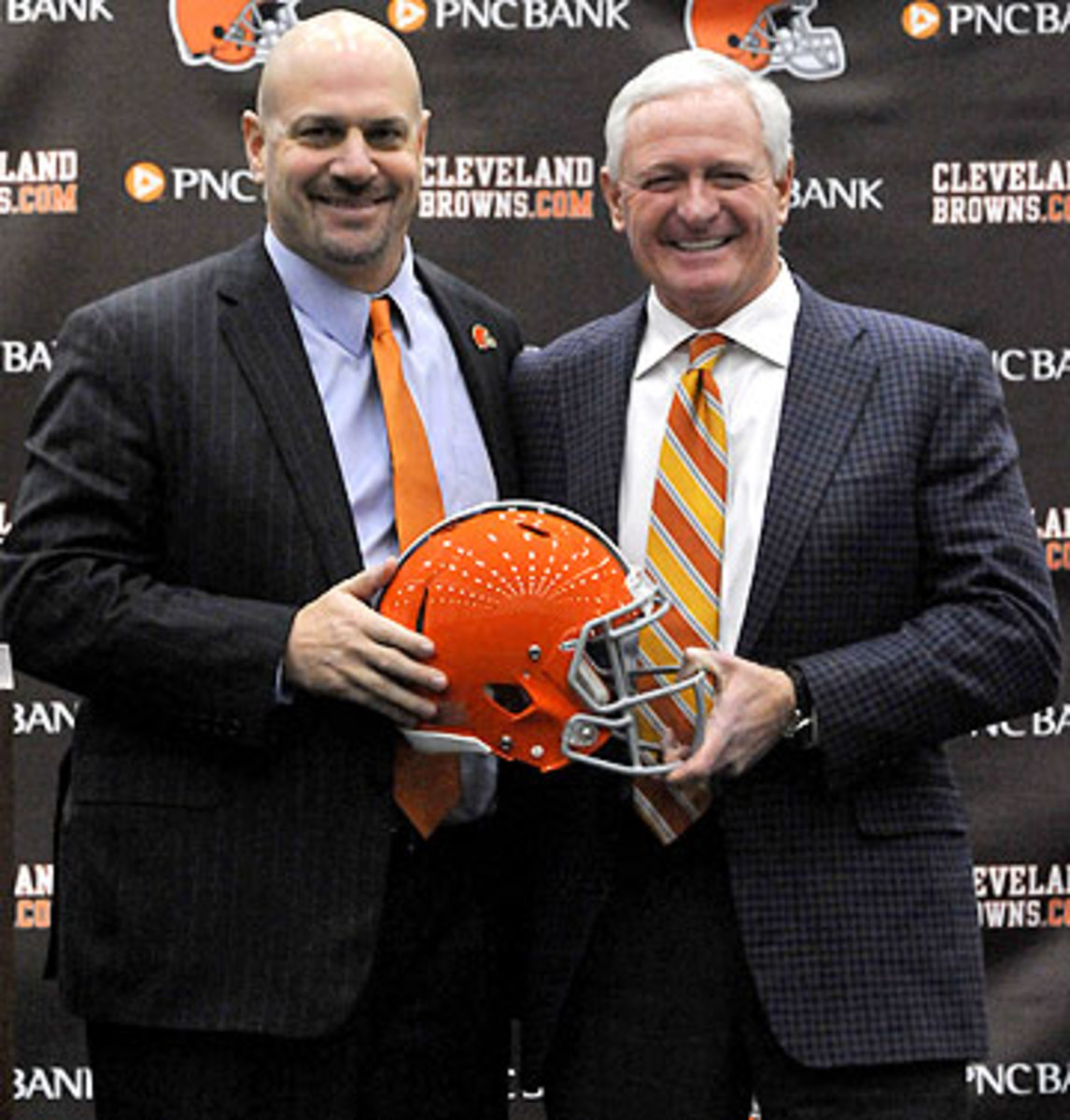 Last month, Haslam hired Mike Pettine, who will be the Browns' fourth head coach since 2009. (Nick Cammett/Getty Images)