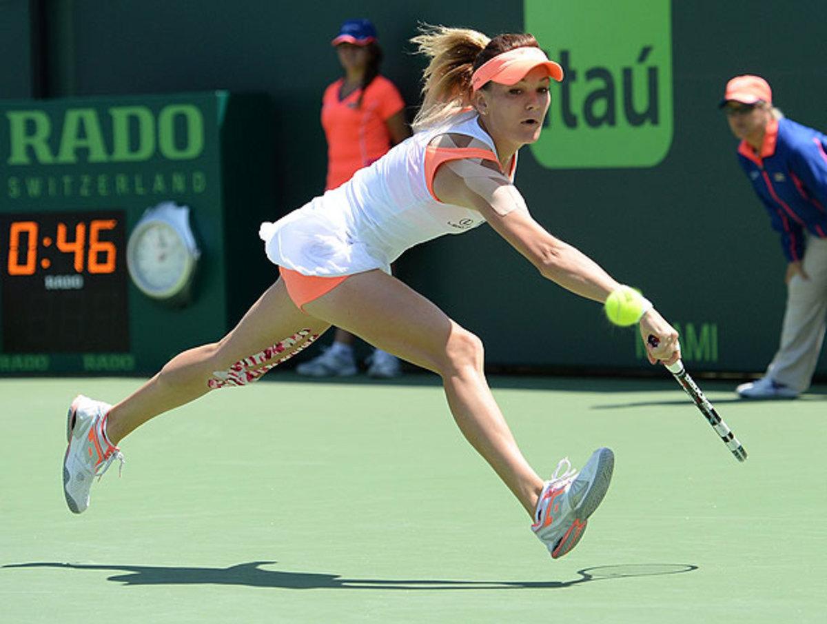Agnieszka Radwanska was almost albe to conjure last year's magic at the Sony Open. (Juan Salas/Icon SMI)