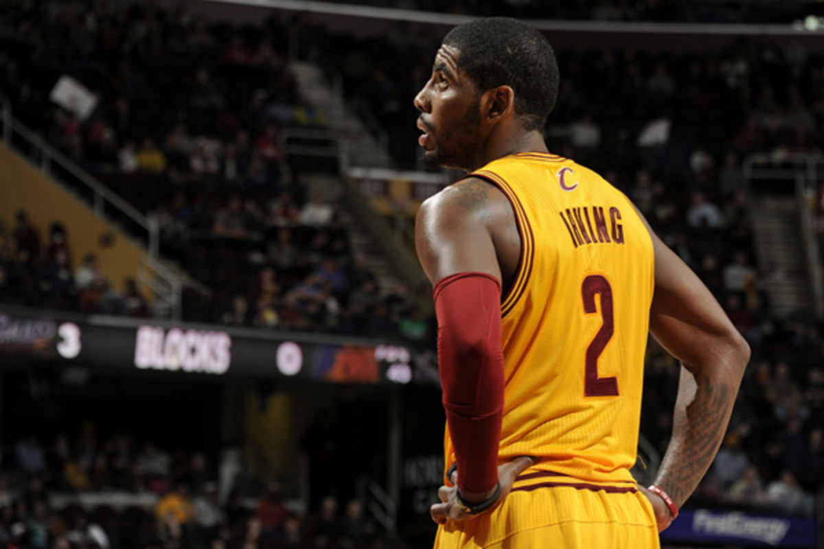 Things hit rock bottom for the Cavs and Kyrie Irving in a loss to the Lakers. (David Liam Kyle/NBAE via Getty Images)