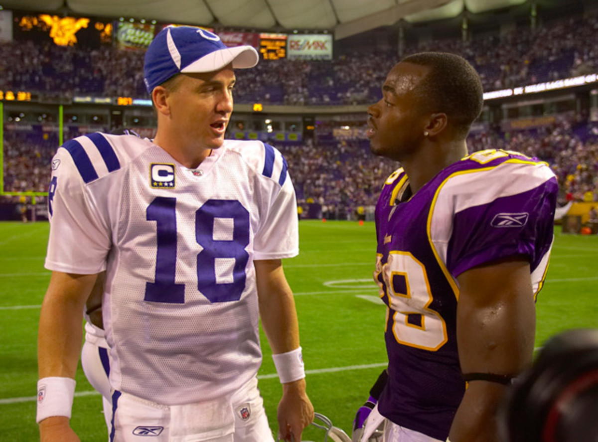 Peyton Manning and Adrian Peterson