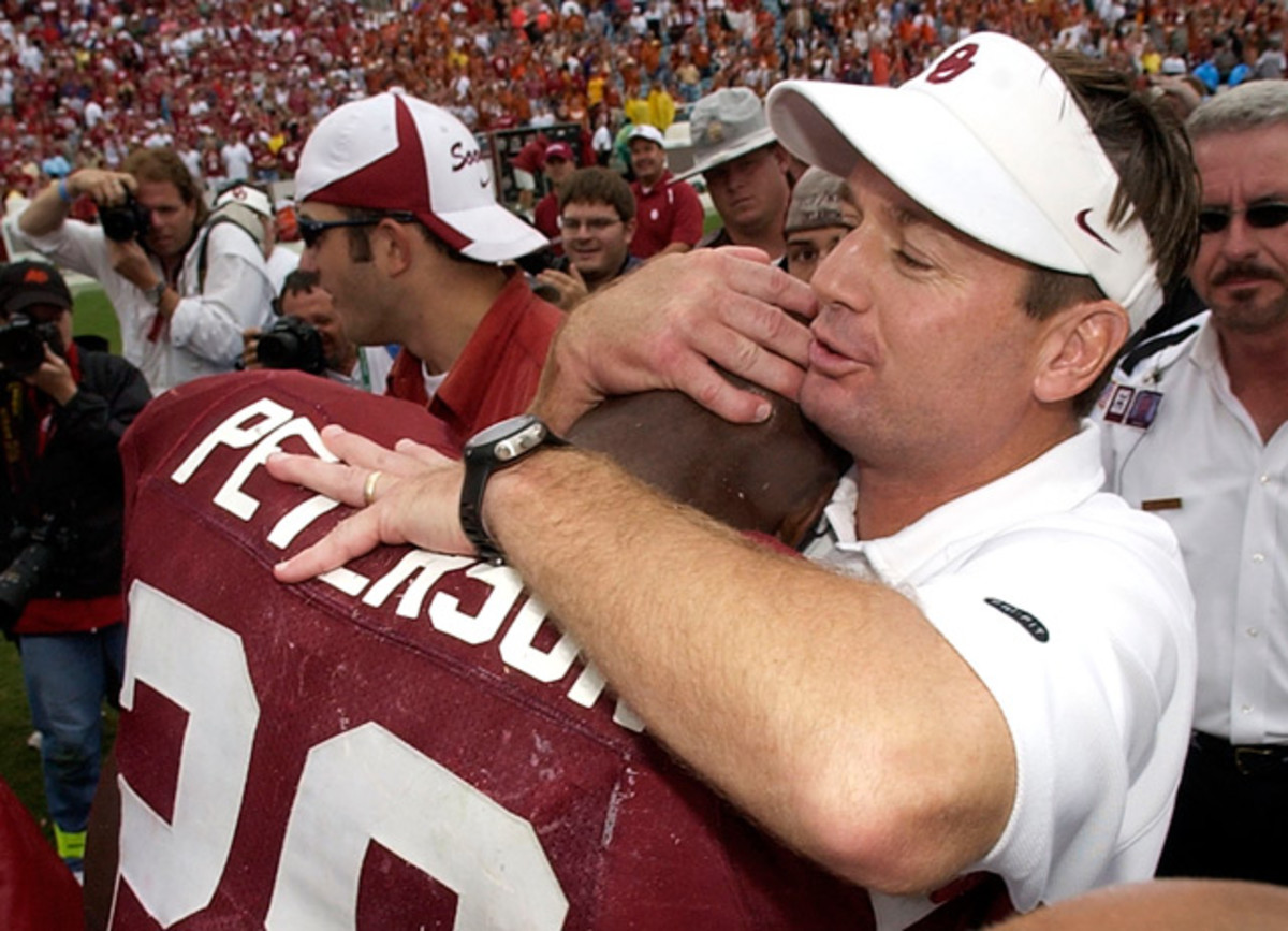 Adrian Peterson and Bob Stoops