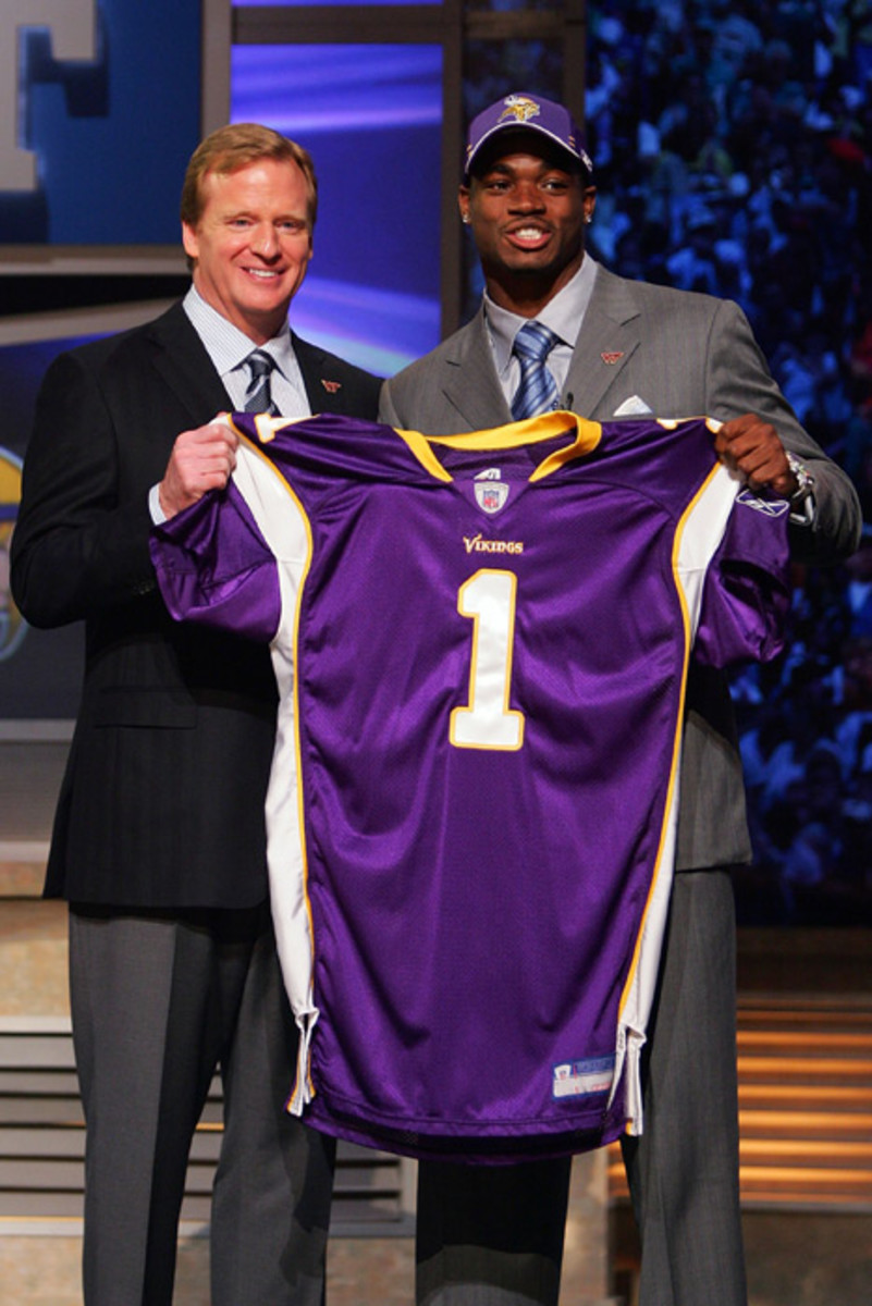 Roger Goodell and Adrian Peterson