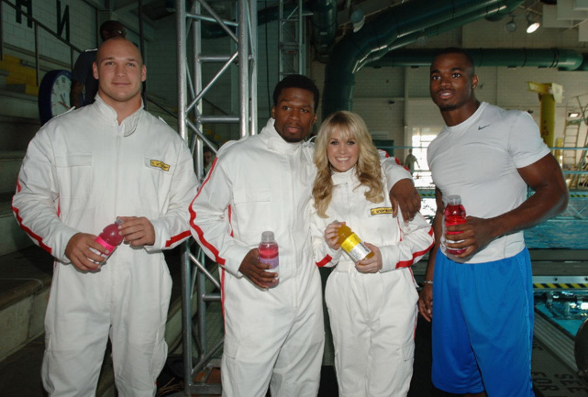 Brian Urlacher, 50 Cent, Carrie Underwood and Adrian Peterson