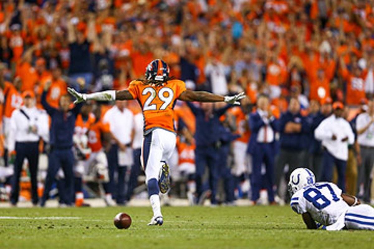 Broncos CB Bradley Roby's fourth-down pass defense ended the Colts' comeback hopes. (Jeff Gross/Getty Images)
