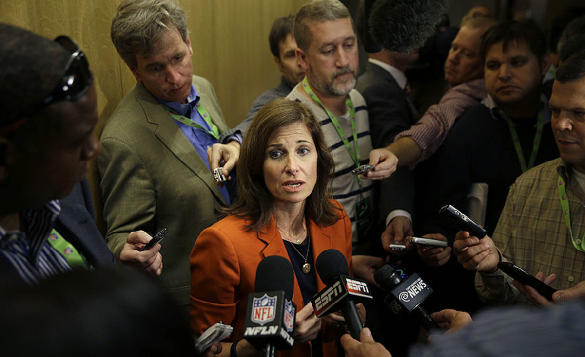 Former sex-crimes prosecutor Lisa Friel has been hired by the NFL to help establish a new policy on domestic violence. (AP Photo/Seth Wenig)