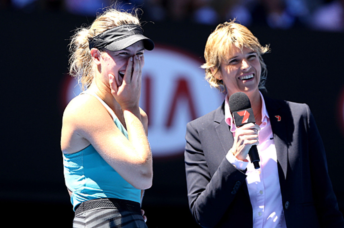Eugenie Bouchard wasn't aware of Australia's general dislike of Justin Bieber. (Michael Dodge/Getty Images)