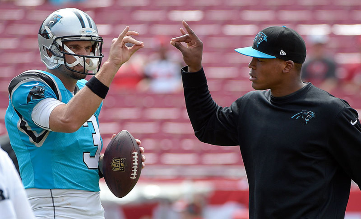 In a pinch, Derek Anderson filled in for injured Cam Newton and led the Panthers to  a divisional road win over the Bucs. (Phelan M. Ebenhack/AP)