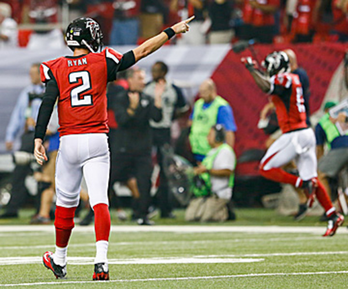 After a big day on Sunday, Matt Ryan has the Falcons pointed in the right direction. (Kevin C. Cox/Getty Images)