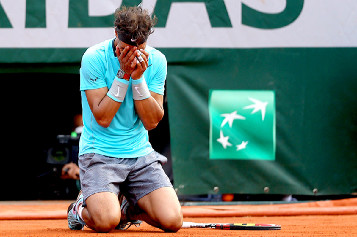 Rafael Nadal once again proves he's indestructible at the French Open. (Matthew Stockman/Getty Images)
