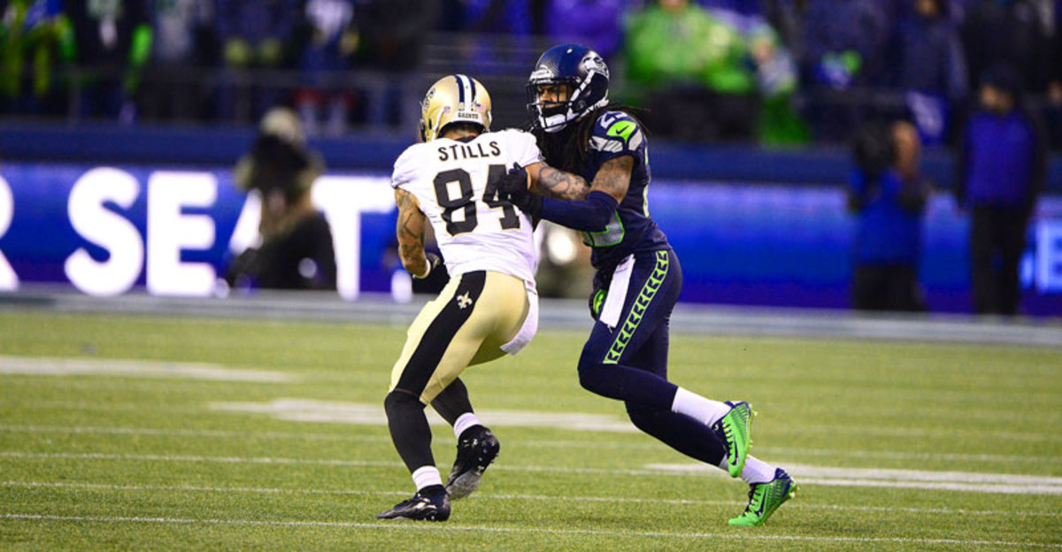 Tall cornerbacks must have the physicality of Richard Sherman to disrupt receivers coming off the line. (Robert Beck/SI/The MMQB)