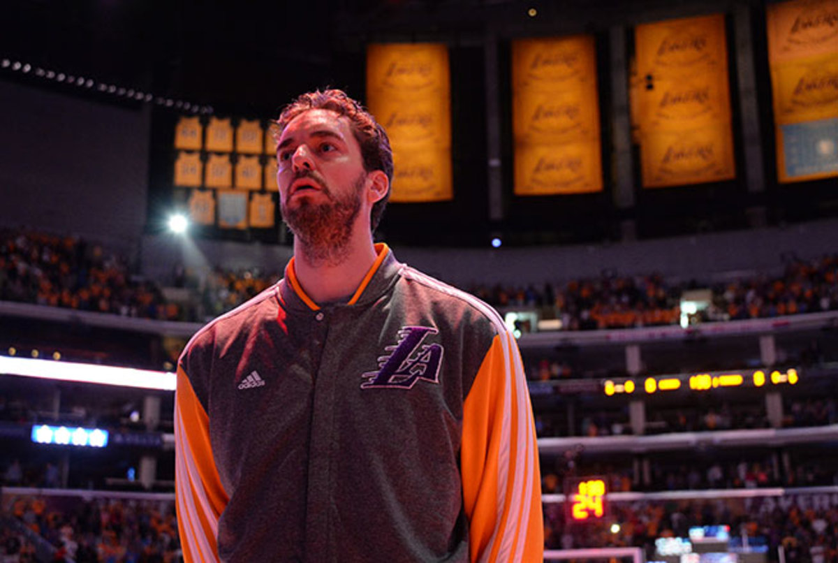 After helping the Lakers win back-to-back titles in 2009-10, Pau Gasol is likely leaving on a lottery team.