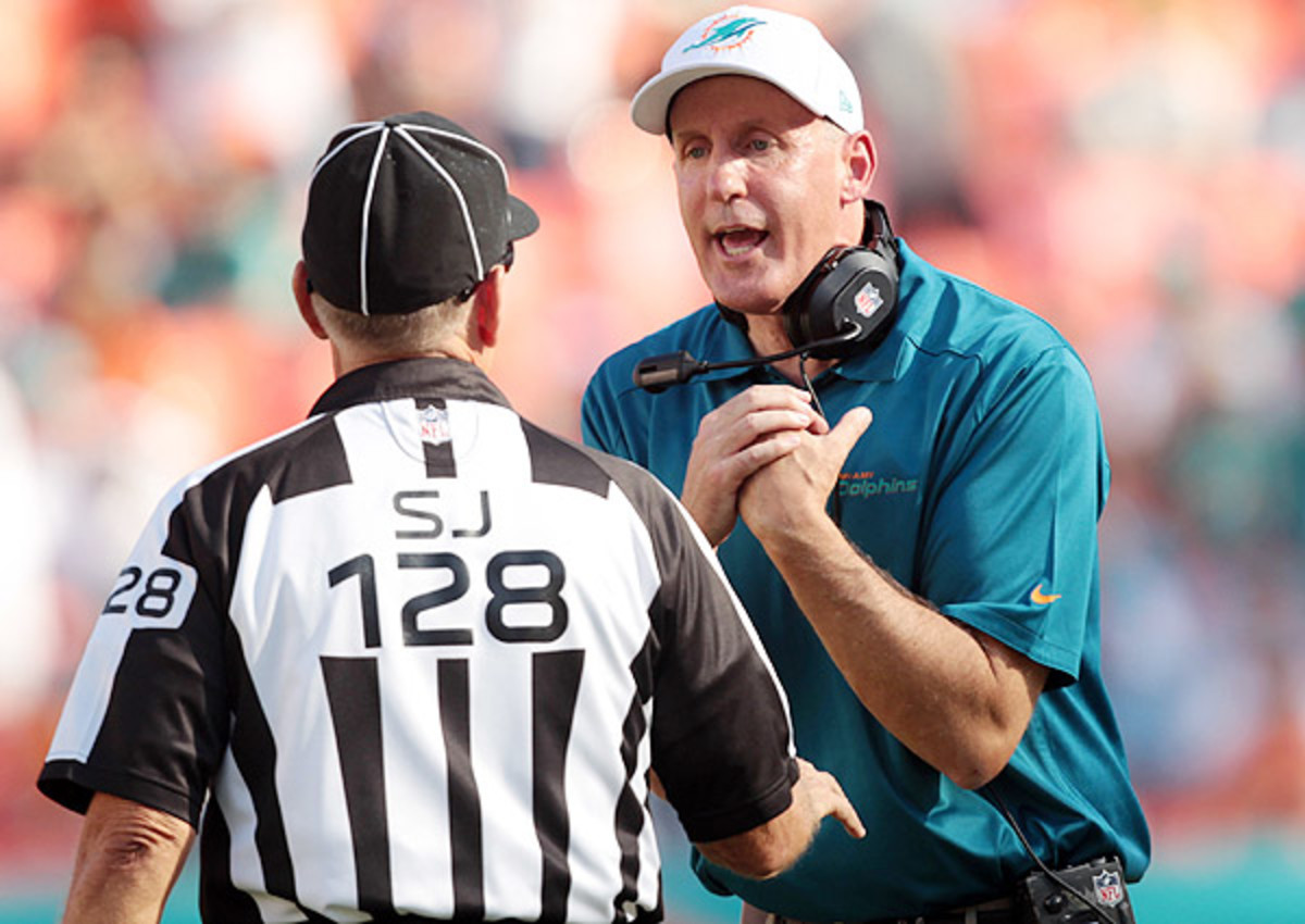 Joe Philbin's Dolphins has stayed in the playoff chase this season, despite a depleted offensive line.