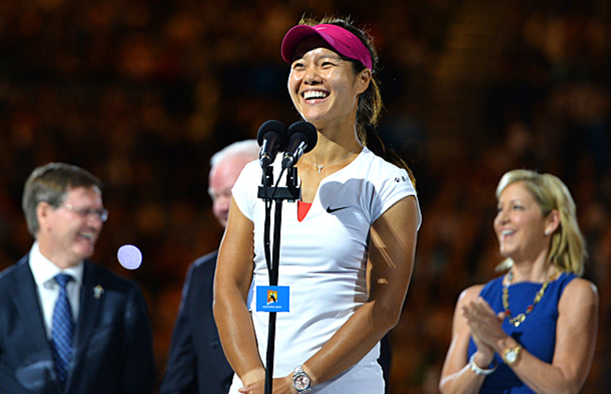 Li Na certainly produced some laughs while giving her speech after winning the Australian Open. (SAEED KHAN/AFP/Getty Images)