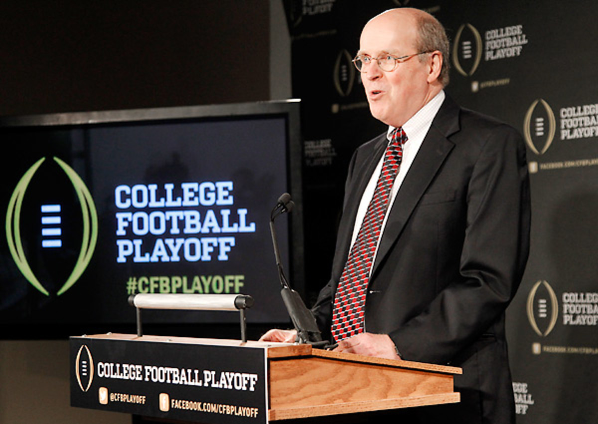 Unlike the BCS, the College Football Playoff has no required polling component.