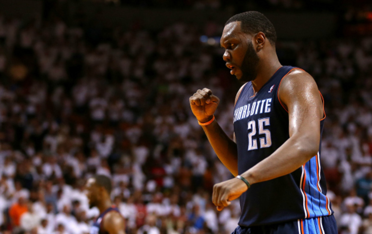 Al Jefferson signed a three year contract with Charlotte worth $41 million before the season. (Mike Ehrmann/Getty Images)