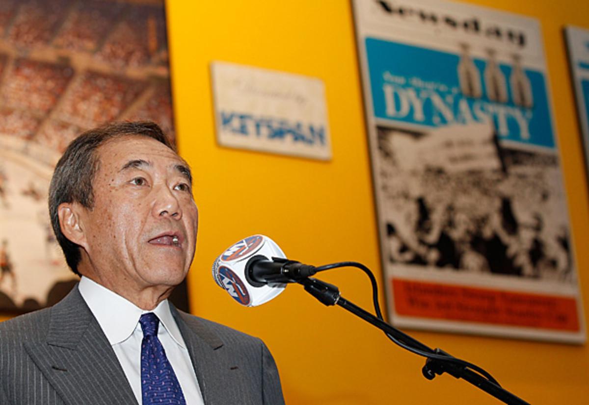 Owner Charles Wang of the New York Islanders