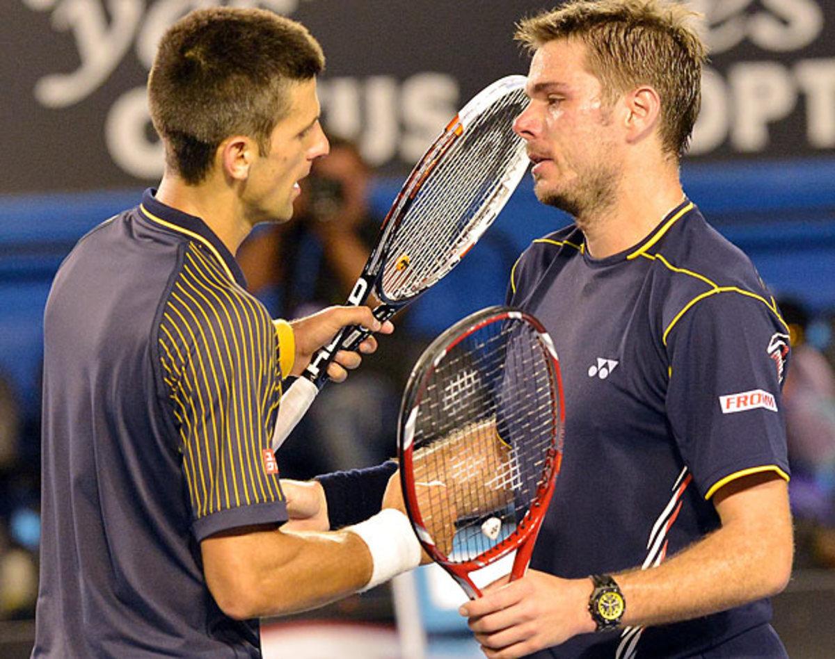 Novak Djokovic and Stanislas Wawrinka
