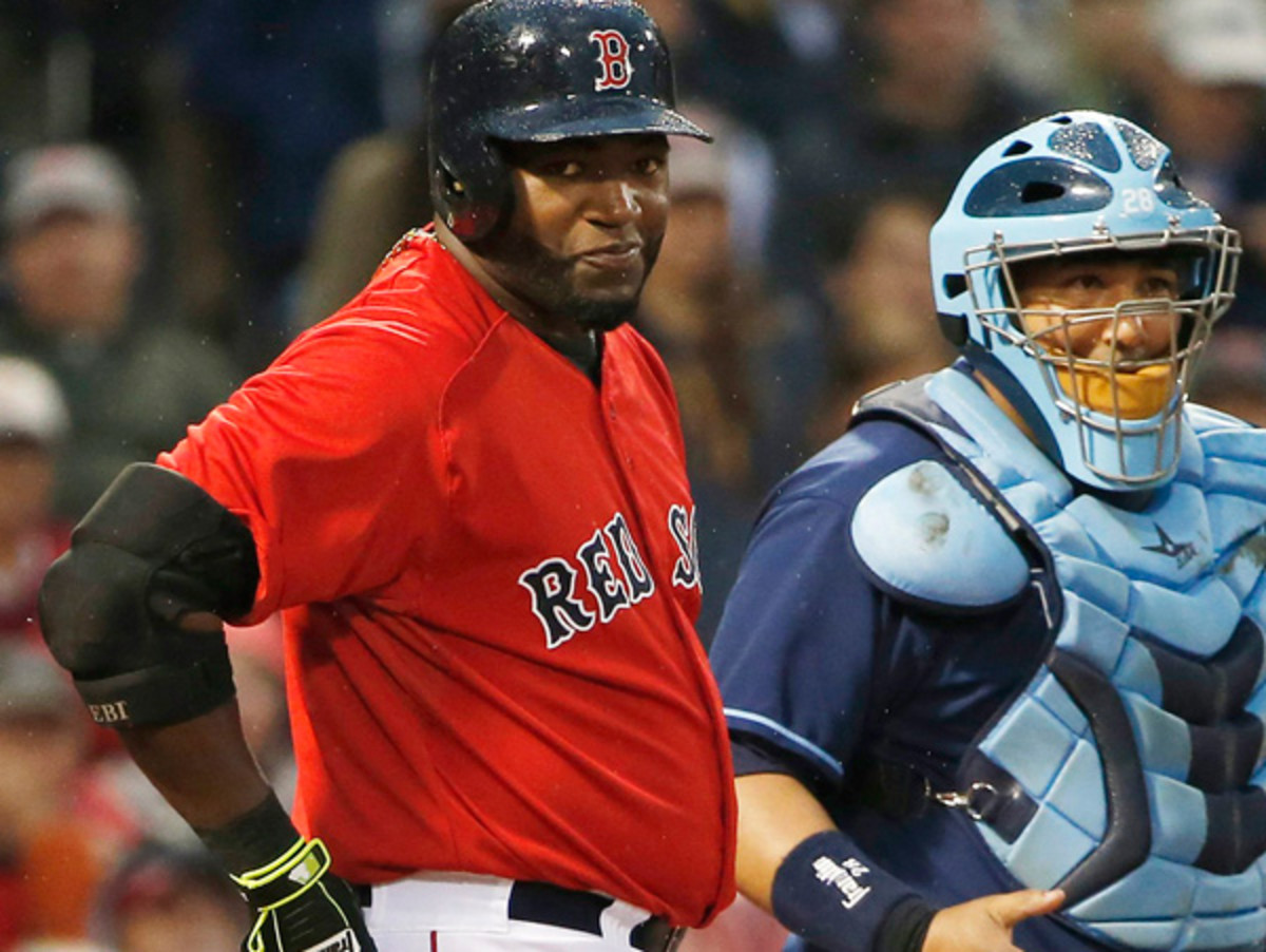 David Ortiz, pondering his words carefully during a break in action. (Winslow Townson/Getty Images)