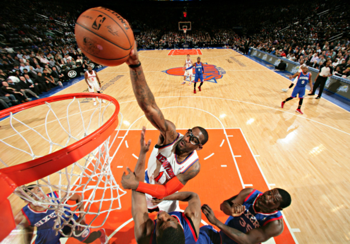 Amar'e Stoudemire has been terrific for the Knicks over the course of their seven-game winning streak. (Nathaniel S. Butler/NBAE via Getty Images)
