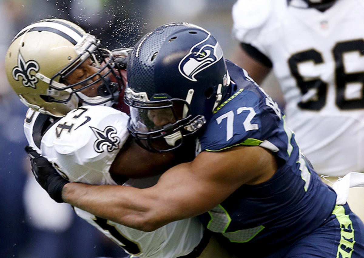 Michael Bennett is getting the fullcourt press from the Seahawks.