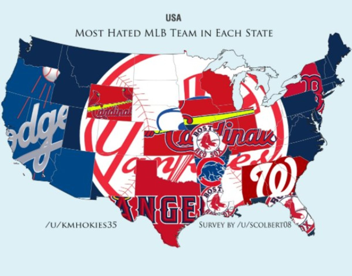 Map shows each state\'s most hated MLB team - Sports Illustrated