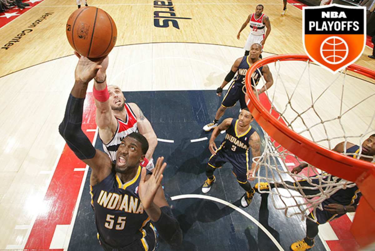 After struggling to matchup against the Hawks, Roy Hibbert will face plenty of size vs. the Wizards.