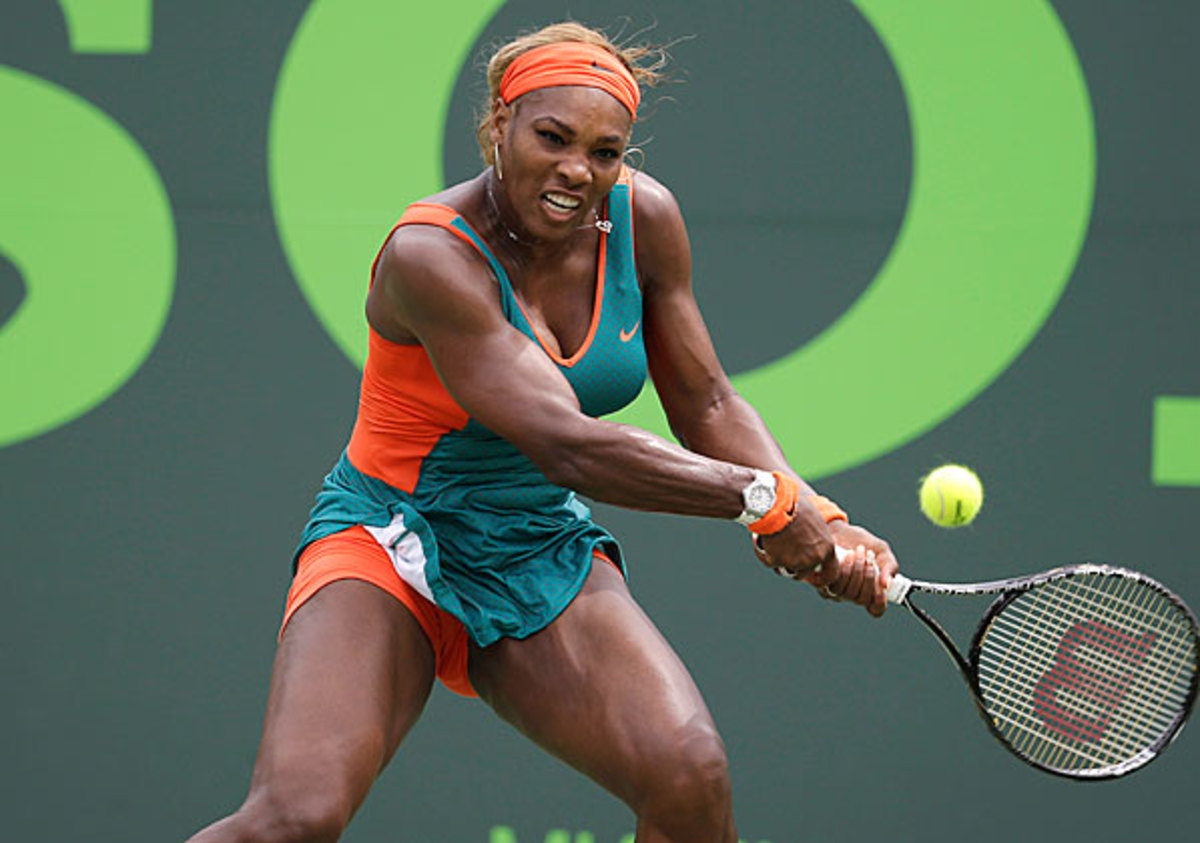 Serena Williams will arrive in Charlotte carrying a 15-match win streak on the green clay. (Lynne Sladky/AP)