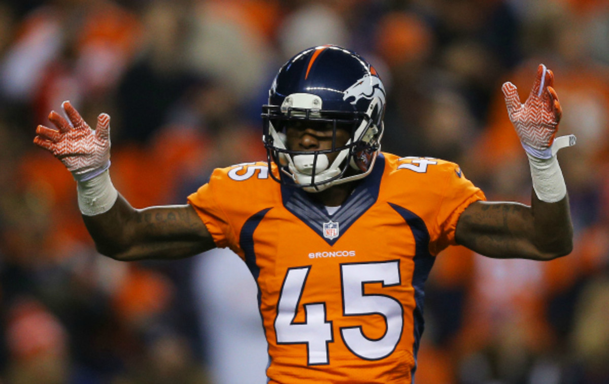 Dominique Rodgers-Cromartie had 3 interceptions and 32 tackles for the Broncos this season. (Justin Edmonds/Getty Images)