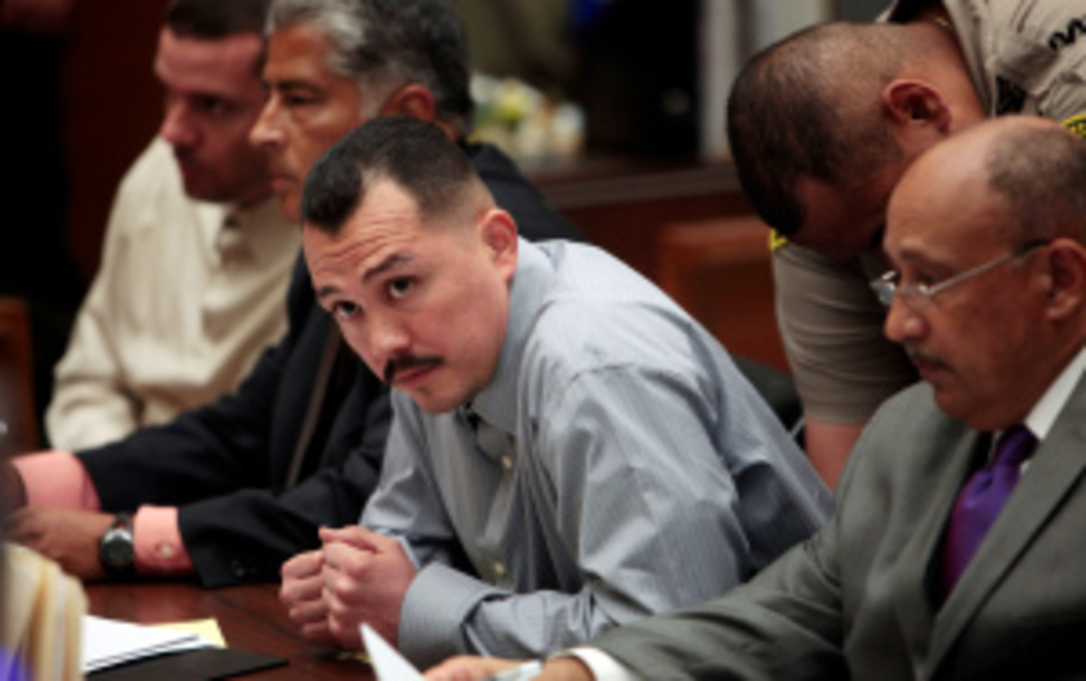 Louie Sanchez was the primary aggressor in the attack, according to a report citing court testimony. (AFP/Getty Images)