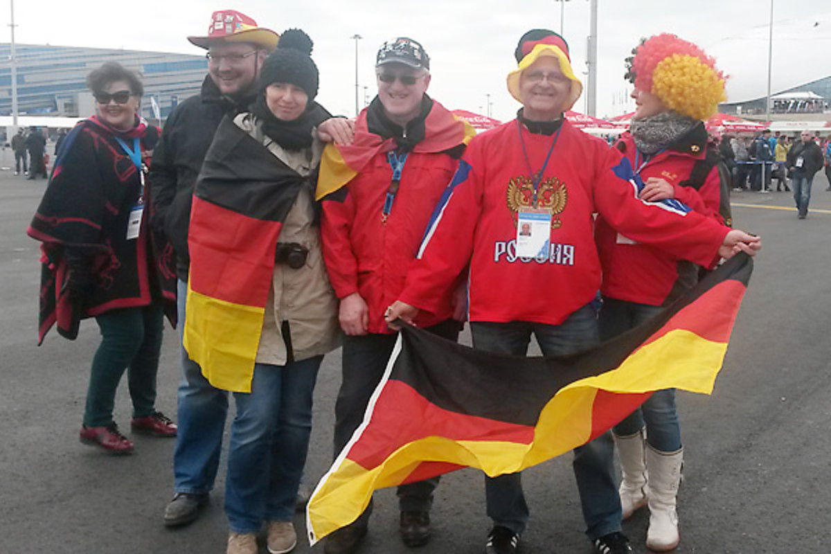 Evgenii said he was impressed by Russians' kindness toward him and his fellow German fans.