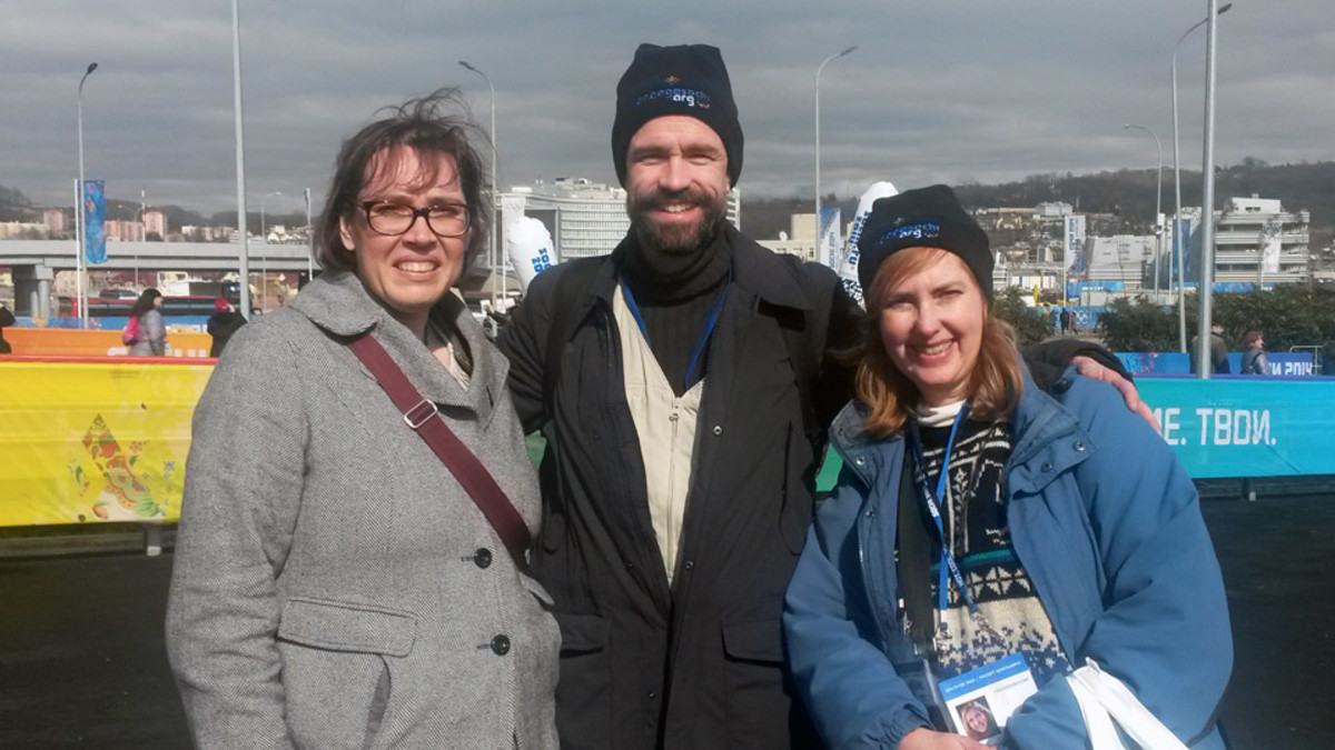 Americans Rich and Joyce Swingle and Liz Jennings were among those impressed with the Sochi venues.