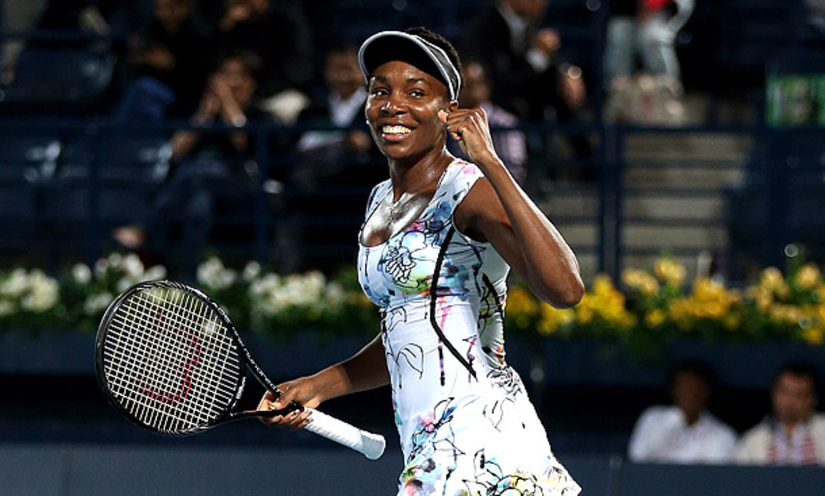 Venus Williams claimed her first title since 2012 with a victory over Alize Cornet in Dubai. (Warren Little/Getty Images)