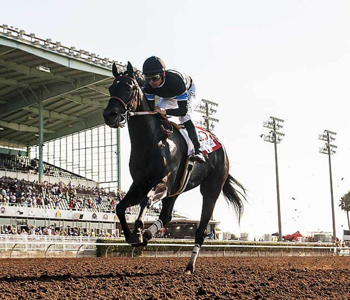 In July, Smith rode Breeders' Cup Classic contender Shared Belief to an easy victory in the Los Alamitos Derby.