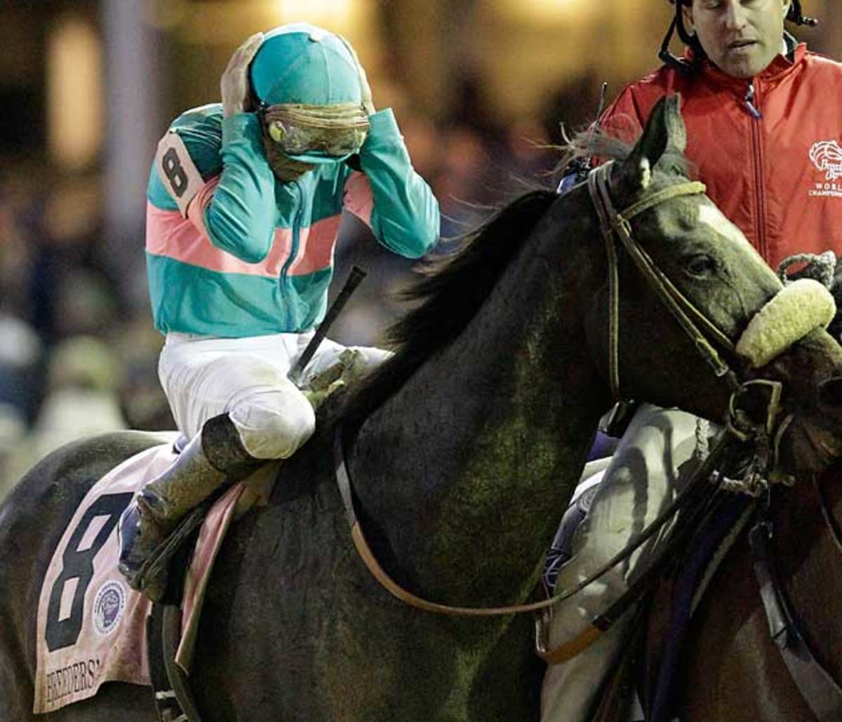 Smith was crushed after Zenyatta lost by a nose in the Breeders' Cup Classic at Churchill Downs in 2010.