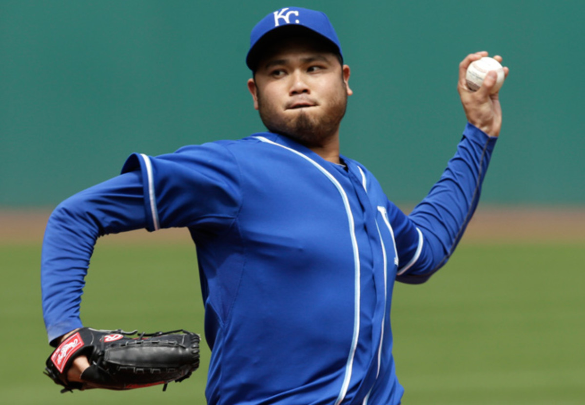 Bruce Chen has allowed 16 earned runs over four starts and 19 1/3 innings for the Royals.