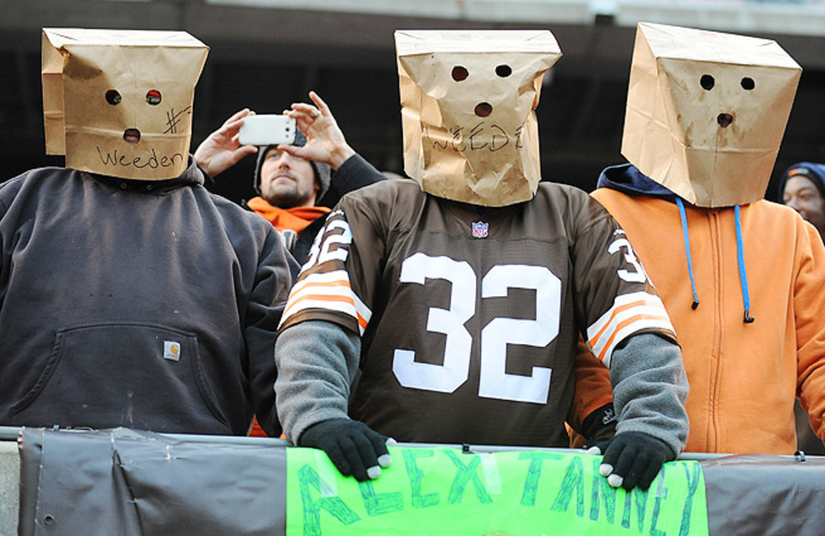 The Cleveland Browns have lost at least 10 games in 10 of the past 11 seasons.