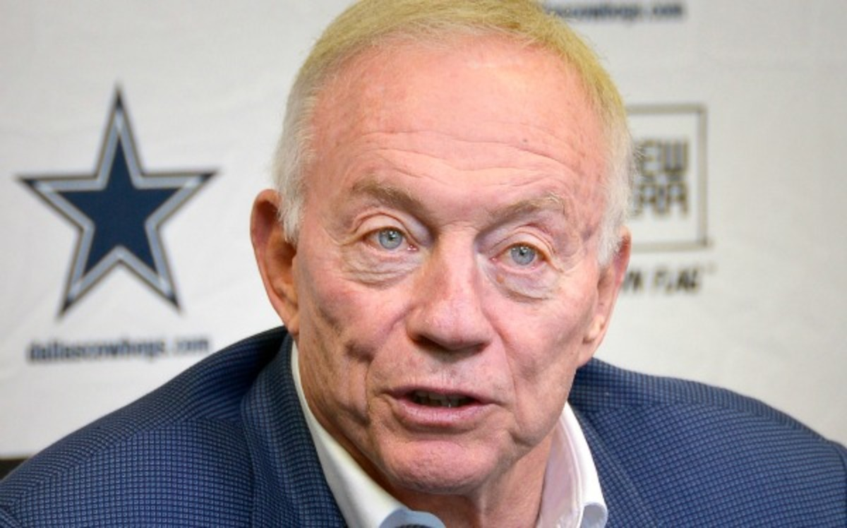 Another Jerry Jones interview may have revealed the Cowboys' draft board. (Getty Images)
