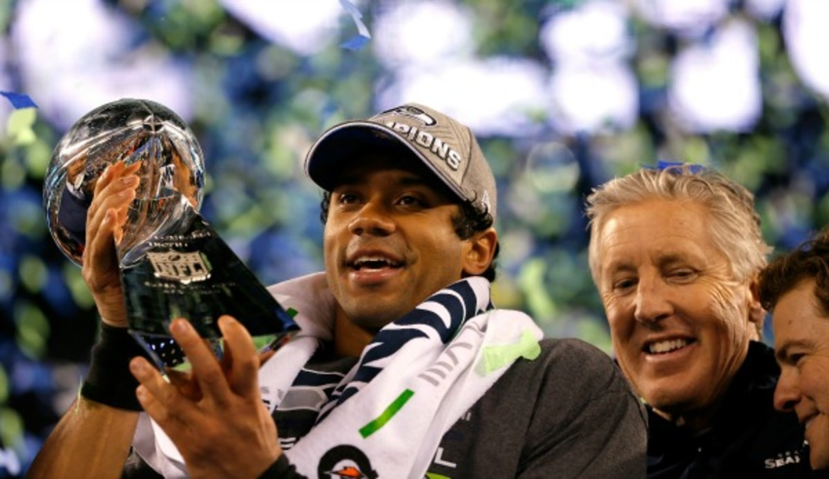 Seattle's win over Denver in Super Bowl XVLIII was a popular Facebook topic. (Kevin C. Cox/Getty Images)
