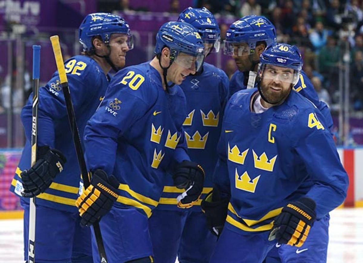Henrik Zetterberg and Team Sweden at Sochi Winter Olympics