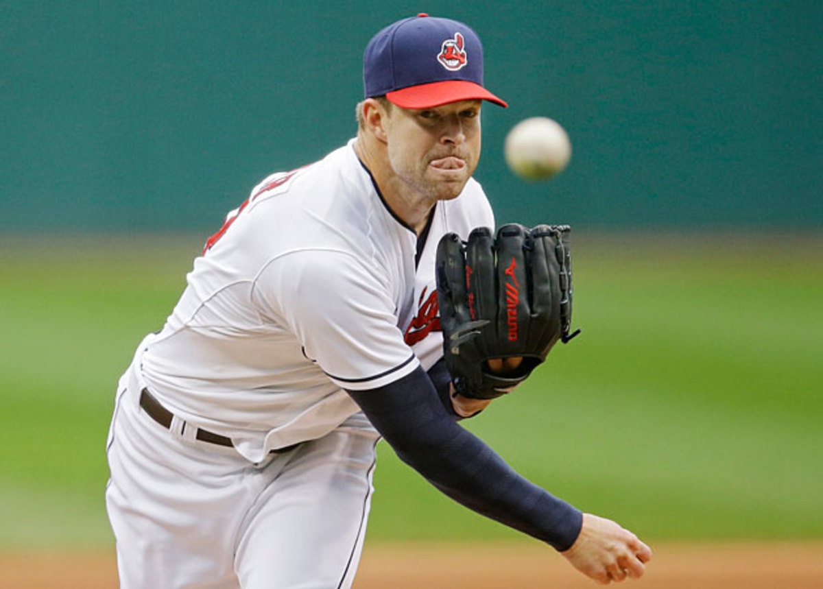 Corey Kluber Cy Young react