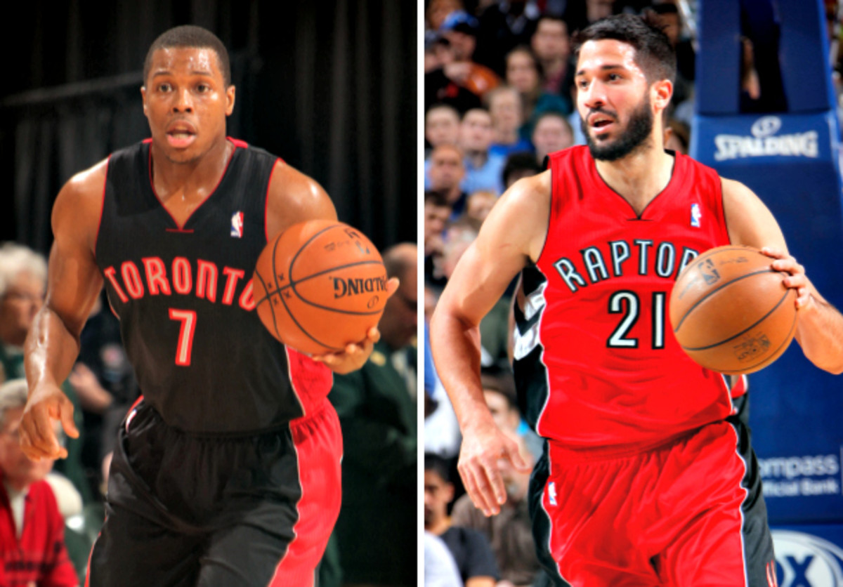 An injury to Kyle Lowry isn't as lethal to the Raptors now that Greivis Vasquez is on the roster. (Ron Hoskins and Glenn James/NBAE via Getty Images)