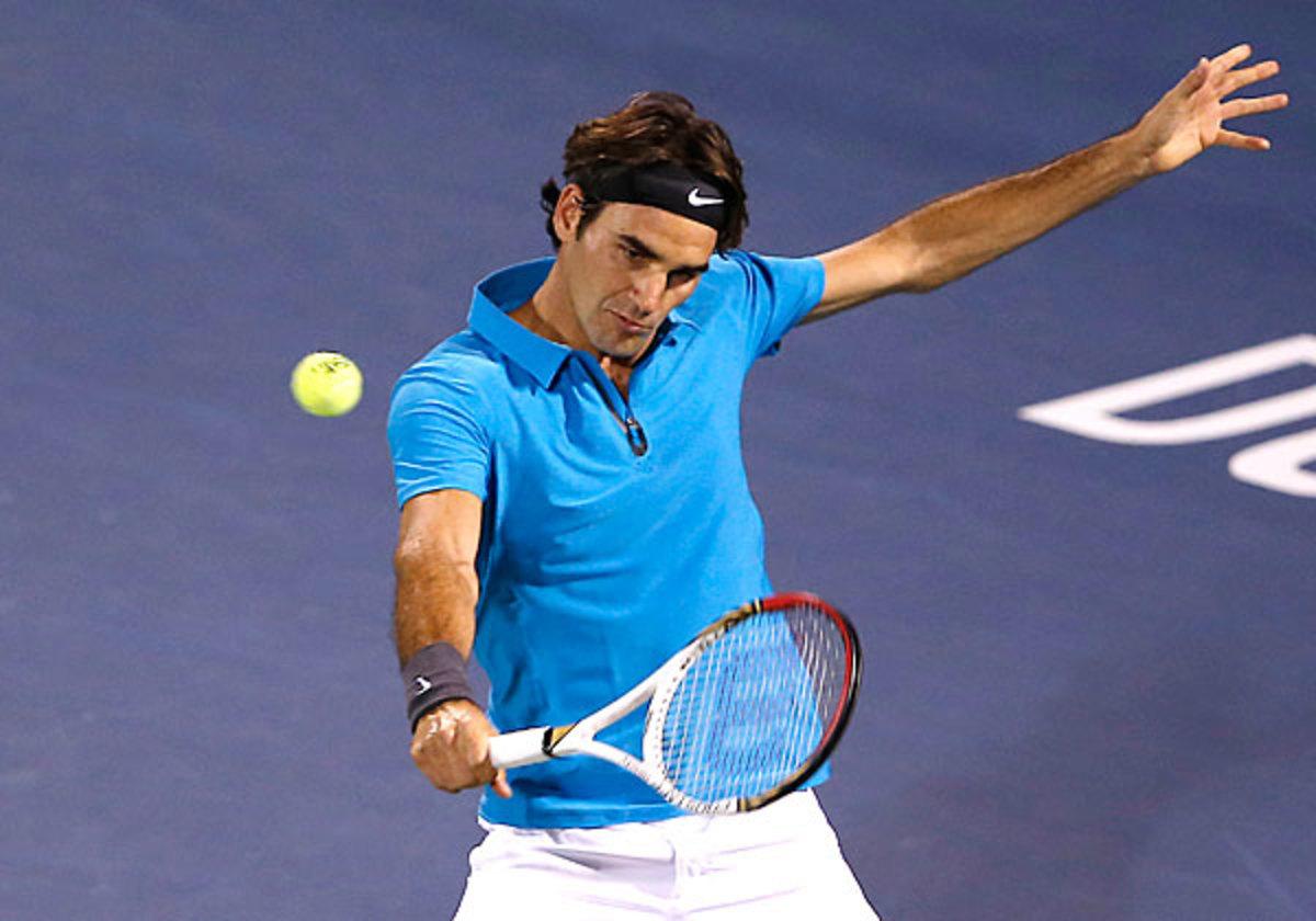 Roger Federer has, with Novak Djokovic, dominated at Dubai since 2003. (Regi Varghese/AP)