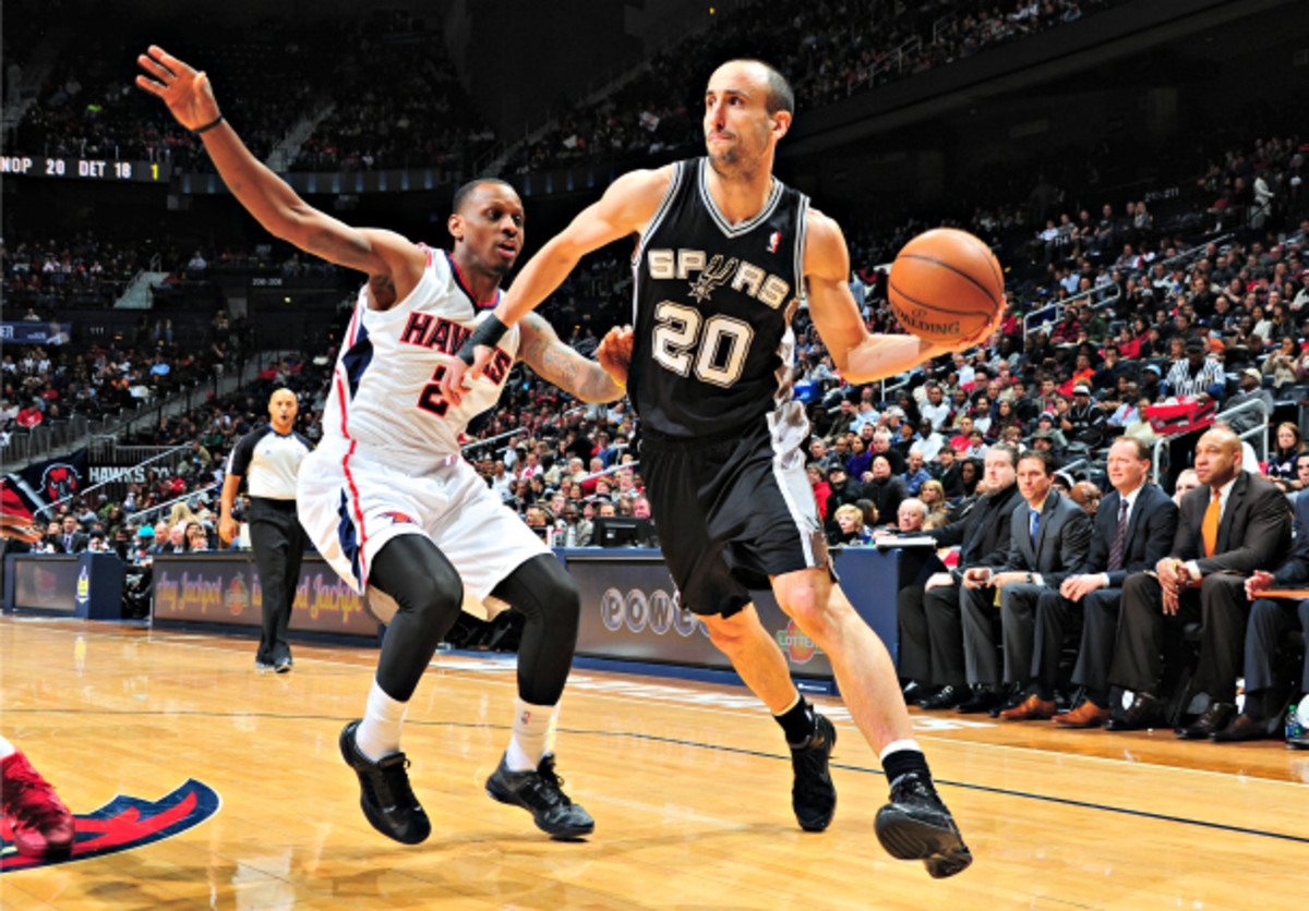 Manu Ginobili is the latest Spur to join the inactive list. (Scott Cunningham/NBAE via Getty Images)