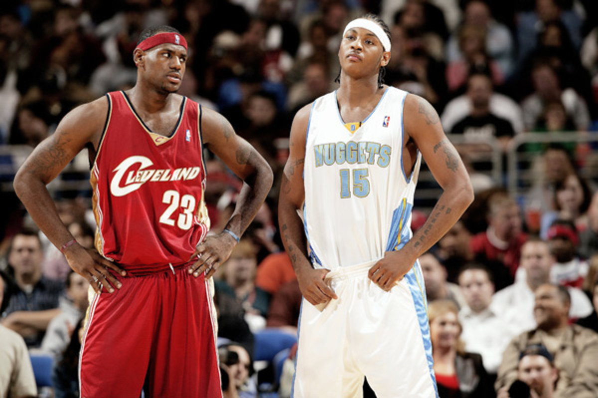LeBron James and  Carmelo Anthony :: John Biever/SI