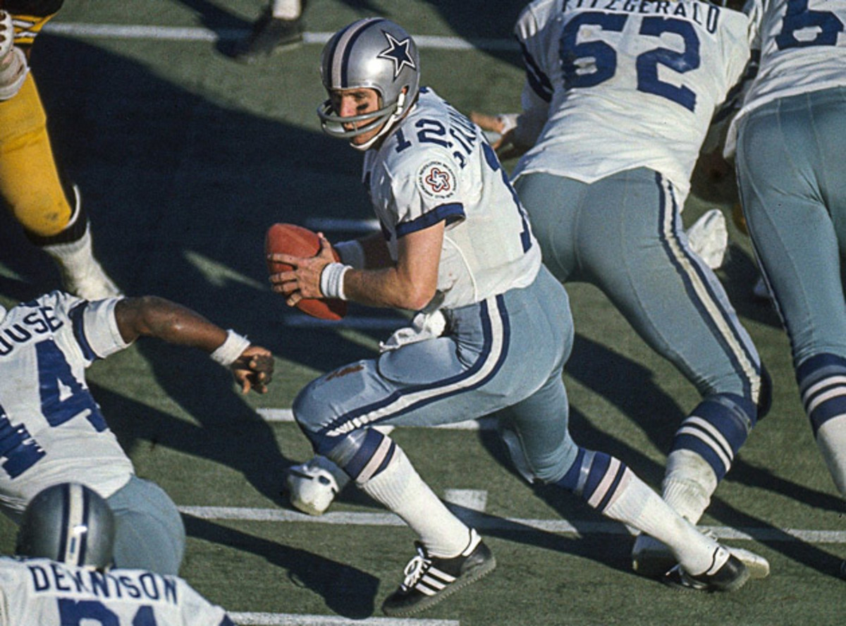 """Staubach brought Dallas from behind to win in the fourth quarter 15 times, earning him the nickname """"Captain Comeback."""""""