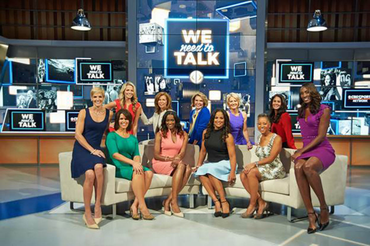 Lesley Visser, Amy Trask, Tracy Wolfson, Dana Jacobson, Allie LaForce, Andrea Kremer, Laila Ali, Lisa Leslie, Swin Cash and Katrina Adams will all appear in Tuesday night's premiere episode.