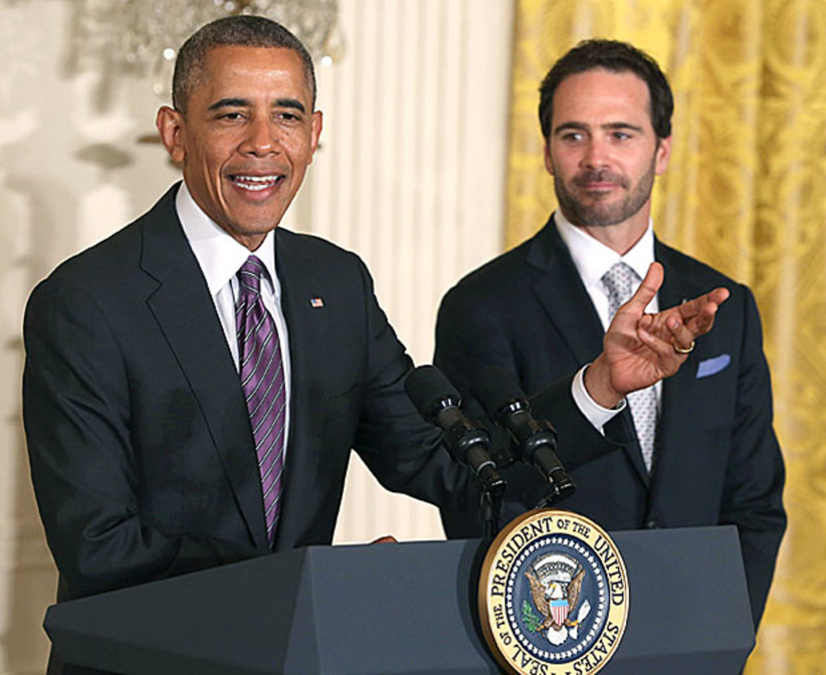 With six titles to his credit,Jimmie Johnson is no stranger to the White House.